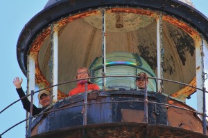 Auf dem Leuchtturm